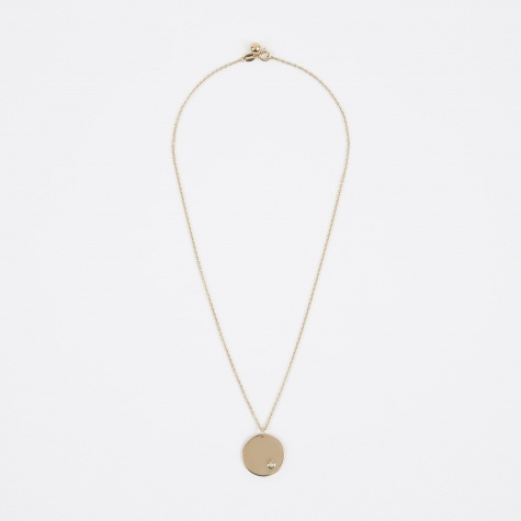 Oct Birthstone Necklace - 14K Gold Plated