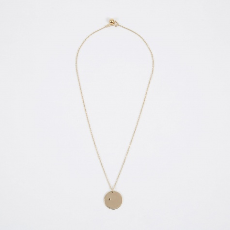 Nov Birthstone Necklace - 14K Gold Plated