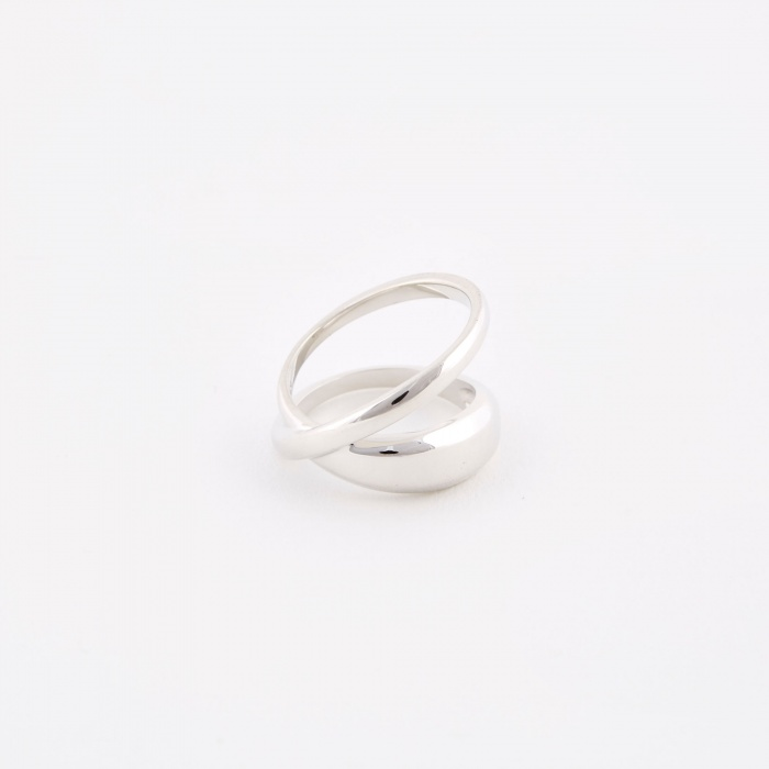 Trine Tuxen Loop Ring - Sterling Silver (Image 1)