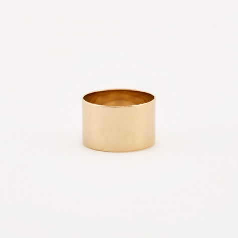 Cylinder Ring - 14K Gold Plated