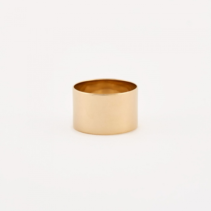 Trine Tuxen Cylinder Ring - 14K Gold Plated (Image 1)