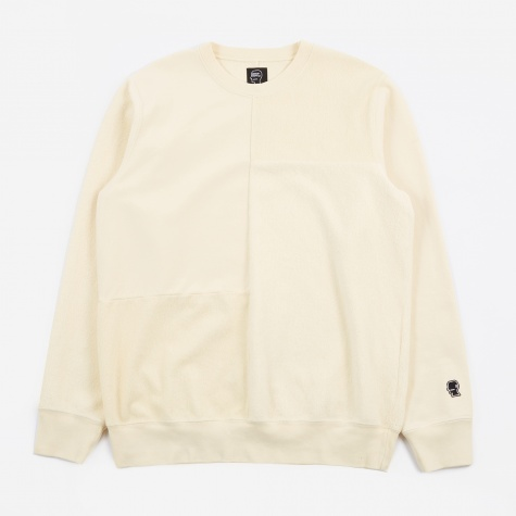 Paneled Crewneck - Lemon