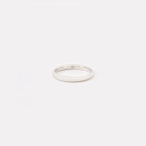 Classic Slim Band Ring - Polished Silver