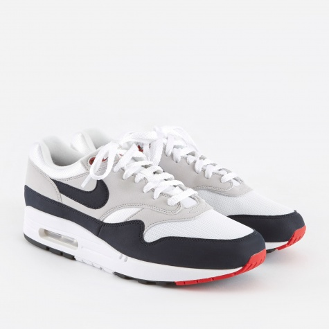 Air Max 1 Anniversary Shoe - White/Dark Obsidian-Neutral Gr