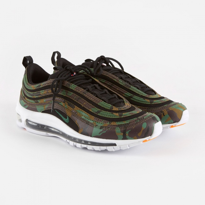 Nike Air Max 97 Premium Shoe Camo - Raw Umber/Fortress Green (Image 1)