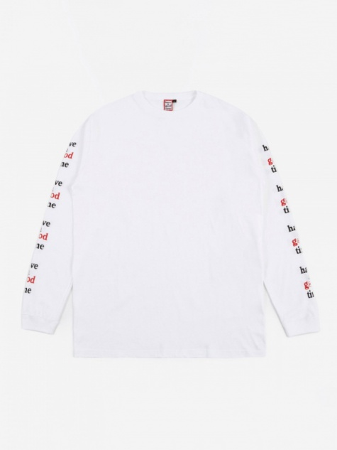 x Goodhood Arm Frame Logo L/S T-Shirt - White