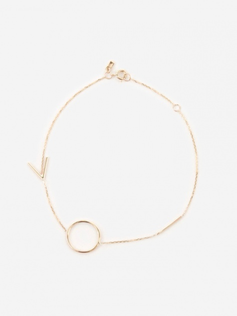 Graphic Bracelet - 14K Yellow Gold