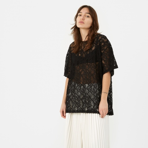 MM6 Lace Top - Black