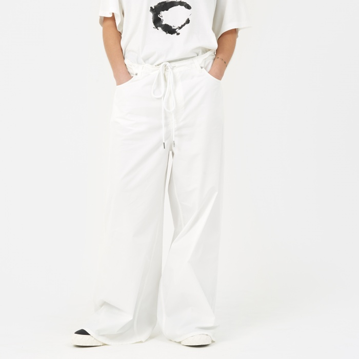 MM6 Maison Margiela MM6 Wide Leg Cavallery Pant - Off White (Image 1)
