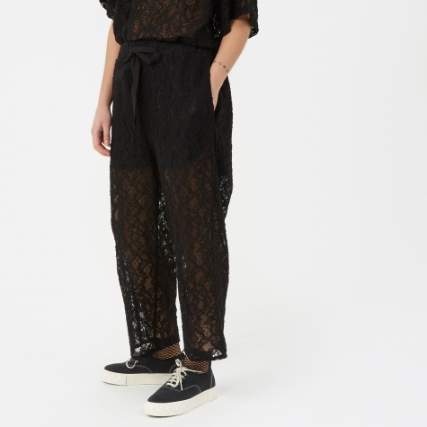 MM6 Cropped Lace Trouser - Black
