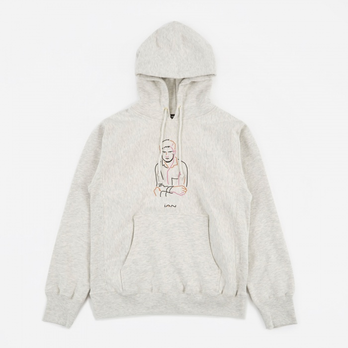Goodhood x BEAMS T x Ryo Kaneyasu Ian Hoodie - Off White (Image 1)