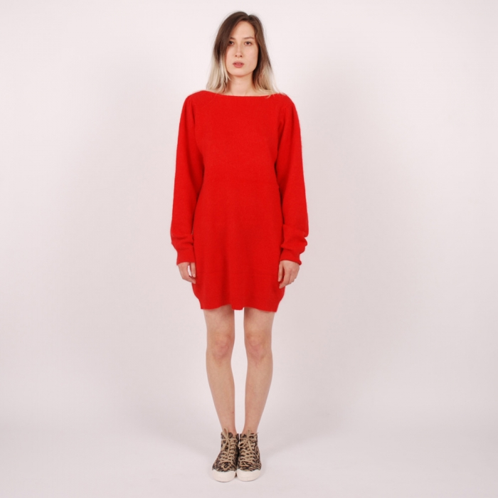 Wood Wood Texas Dress - Tomato Red (Image 1)