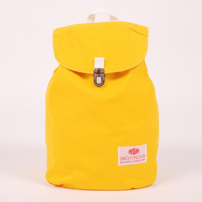Bag 'N' Noun Canvas Napsac - Yellow (Image 1)
