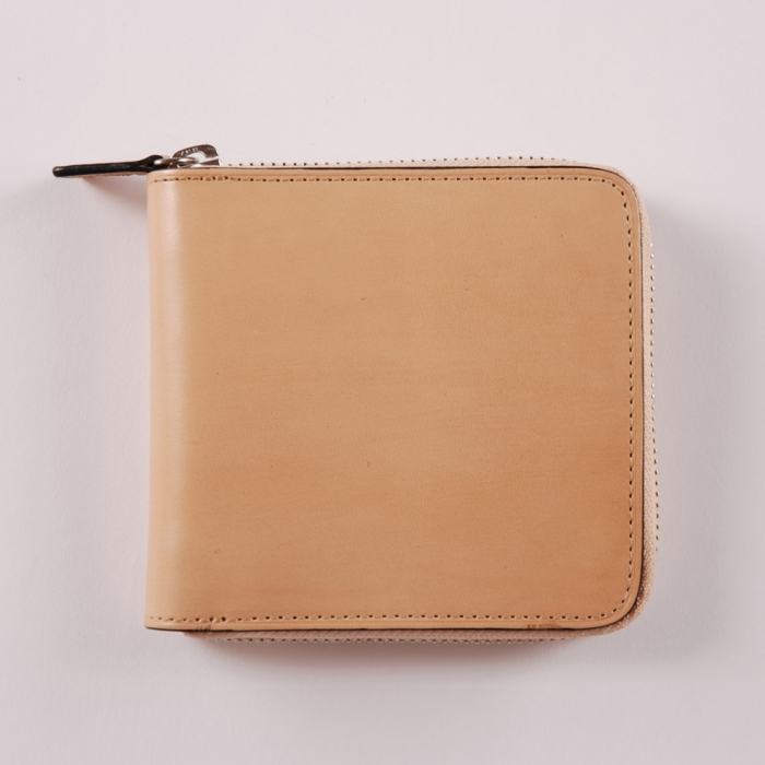 Il Bussetto Large Zip Wallet - Natural