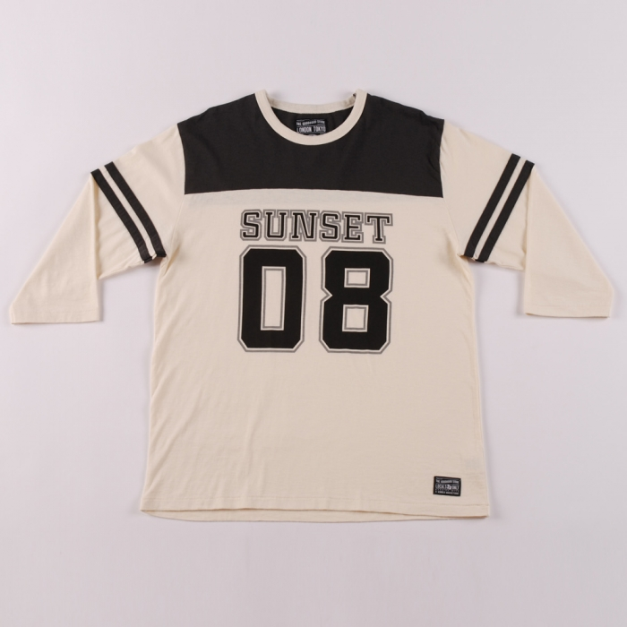 Goodhood X R. Newbold Goodhood x R.Newbold L/S T-Shirt Sunset 08 College Tee - Black (Image 1)