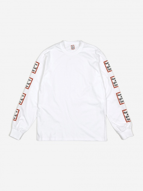 Arm Frame LS T-Shirt - White