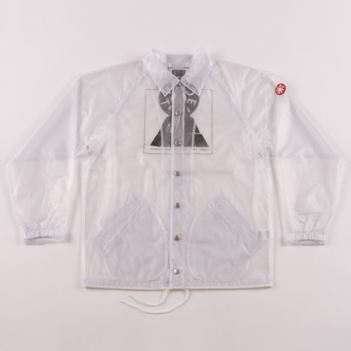 C.E Transparent PVC Rain Jacket - Clear (Image 1)