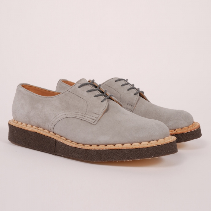 British Remains First Creeper - Grey Suede (Image 1)