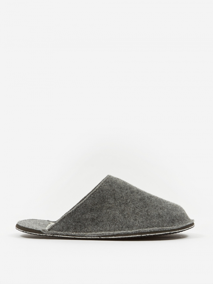 Puebco Light Grey Wool Slipper - Small (Image 1)