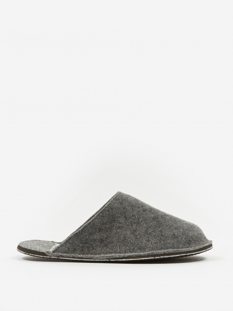 Light Grey Wool Slipper - Large