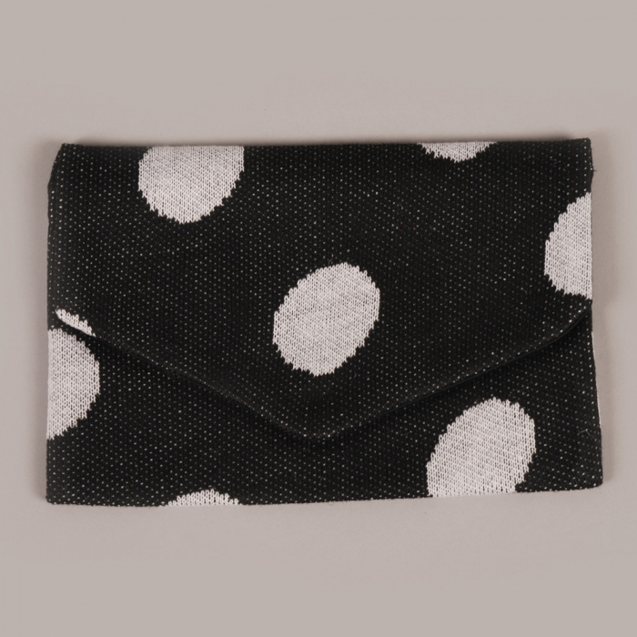 Hansel from Basel Polka Dot Envelope - Black/White (Image 1)