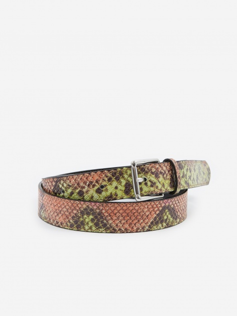 Tres Bien Snake Leather Belt - Pink
