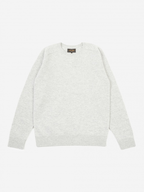Knitted Crewneck Jumper - Light Grey