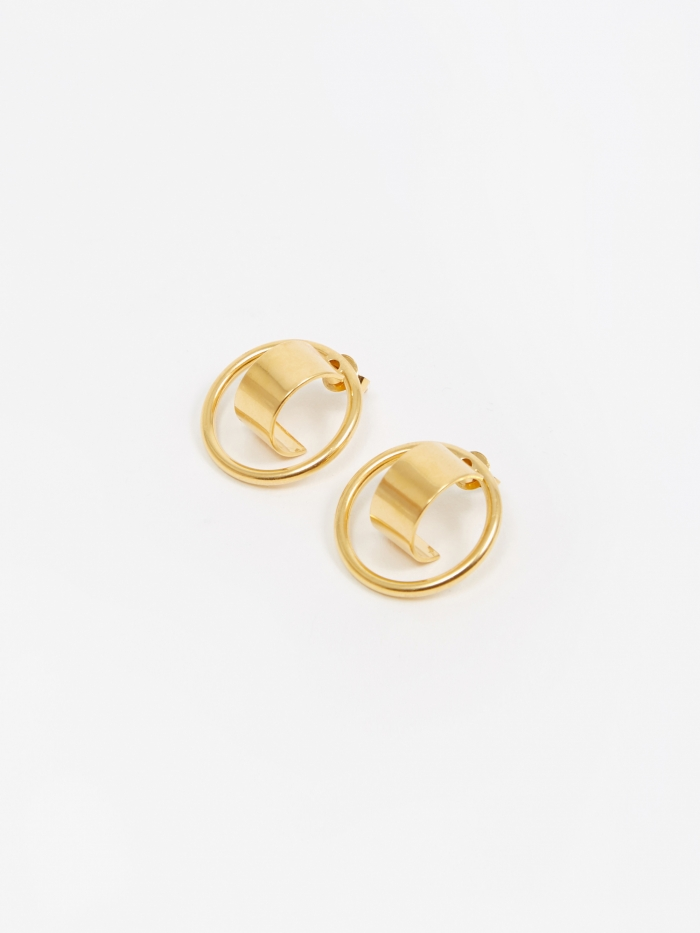 The Boyscouts Atlas Earring (Pair) - Gold Plated (Image 1)