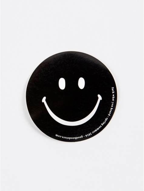 Smiley Sticker - Black