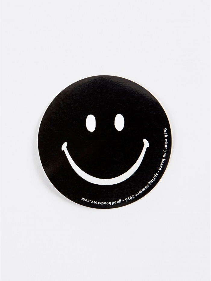 Goods By Goodhood Smiley Sticker - Black (Image 1)