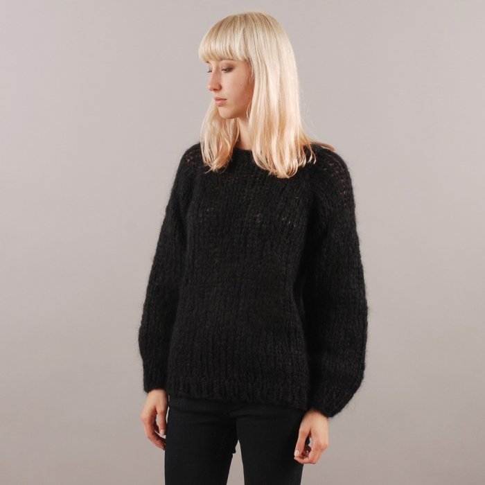 Maiami Mohair Sweater - Black (Image 1)