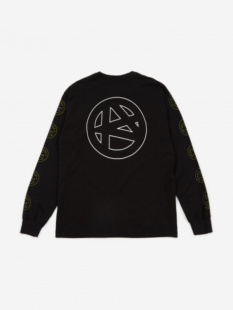 Luker By Neighborhood Longsleeve Circle / C-T-Shirt - Black