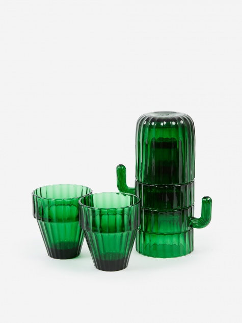 Saguaro Cactus Glasses - Green