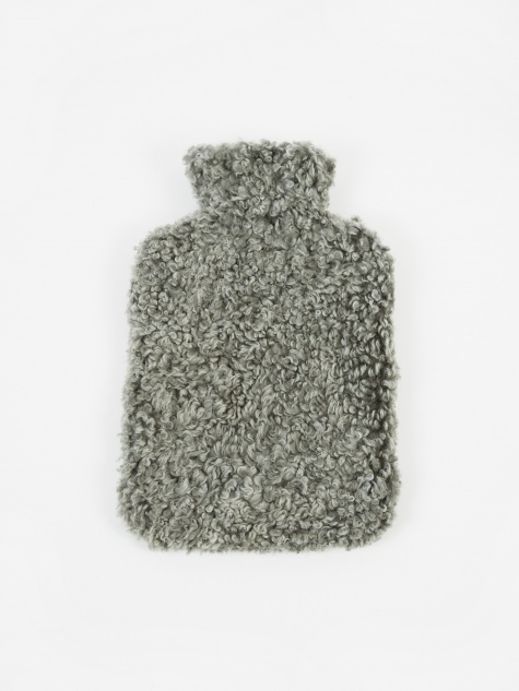 Sheepskin Hot Water Bottle - Graphite
