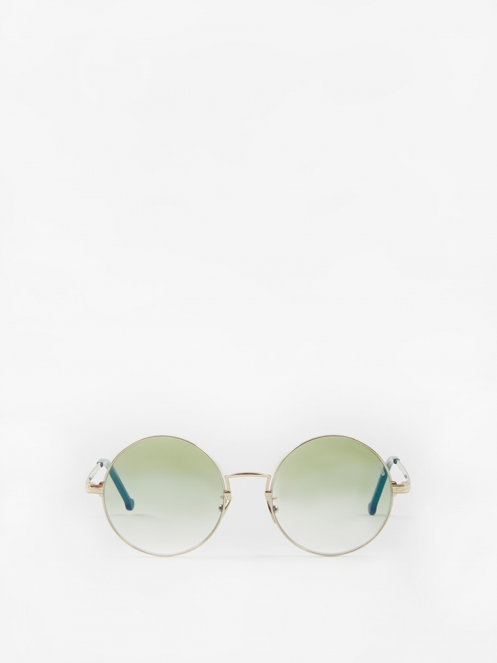 Cutler and Gross 1272-05 Sunglasses - Gold/Evergreen (Image 1)