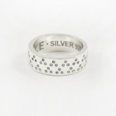 Maple Dots Ring - Silver