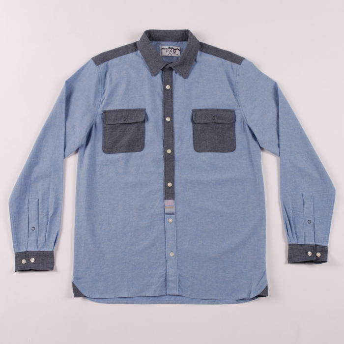 Perks & Mini PAM Eiger Chambray Shirt - Blues (Image 1)