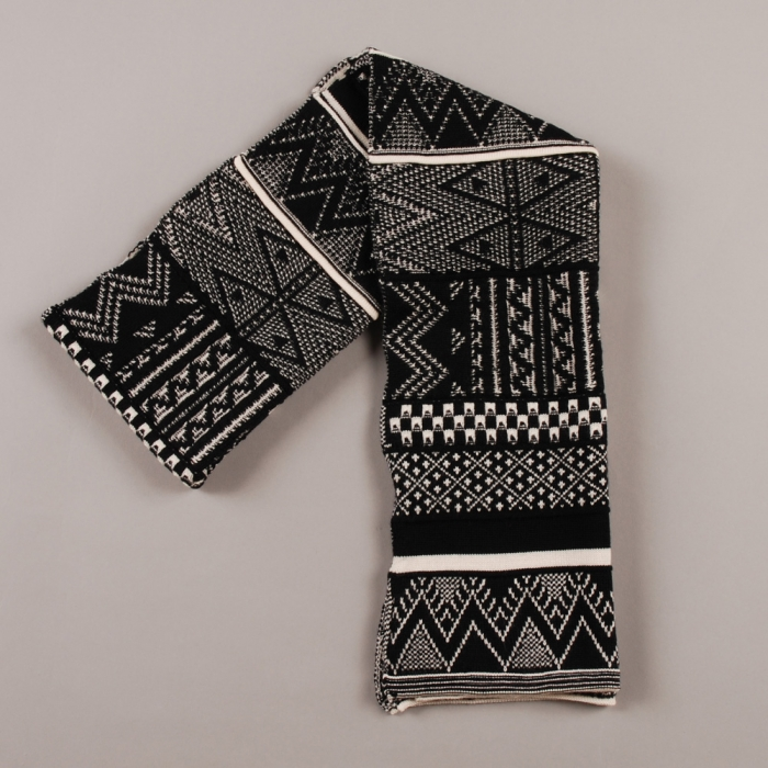 Perks & Mini PAM High Lands Jacquard Scarf - Black (Image 1)