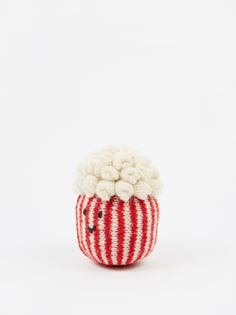 Knitted Wool Pet Toy - Popcorn
