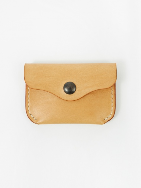Leather Coin Wallet - Natural