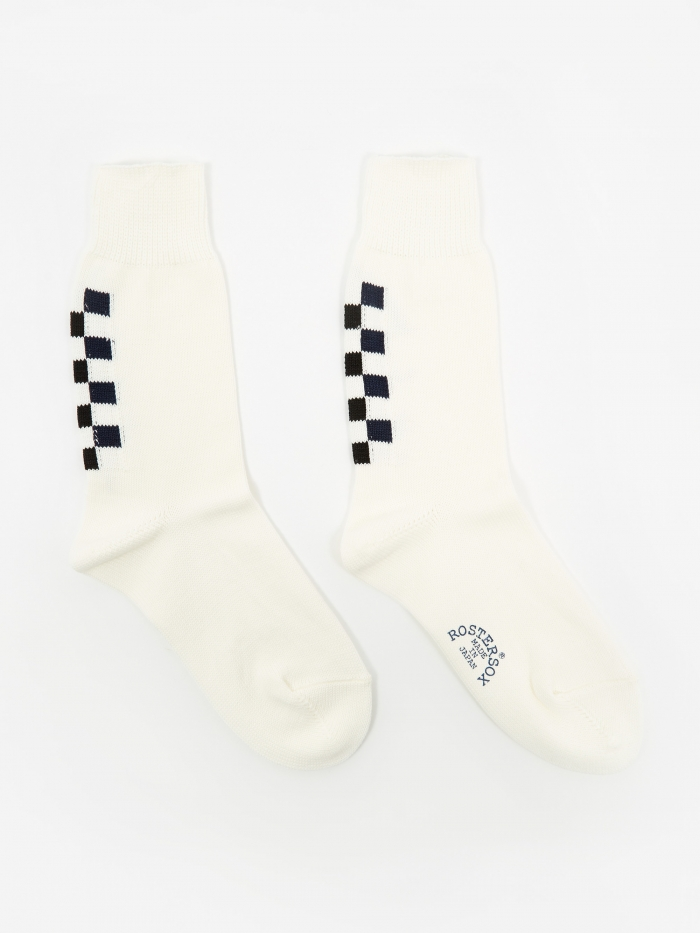Rostersox Navin Socks - White/Blue/Black (Image 1)