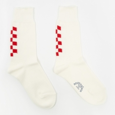 Rostersox Navin Socks - White/Red