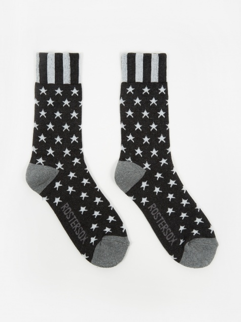 USA Old Socks - Black Star