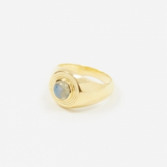 Rachel Entwistle Astral Signet Ring - Gold Plated/Labradorite