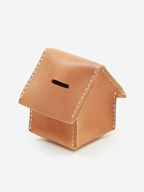 Home Coin Bank - Dark Tan