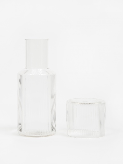 Ripple Carafe Set - Clear