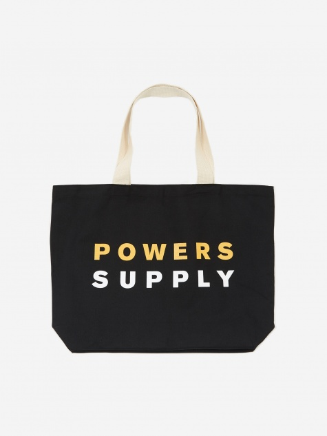 XL Hoppy Heavy Weight Tote Bag - Black/Canvas