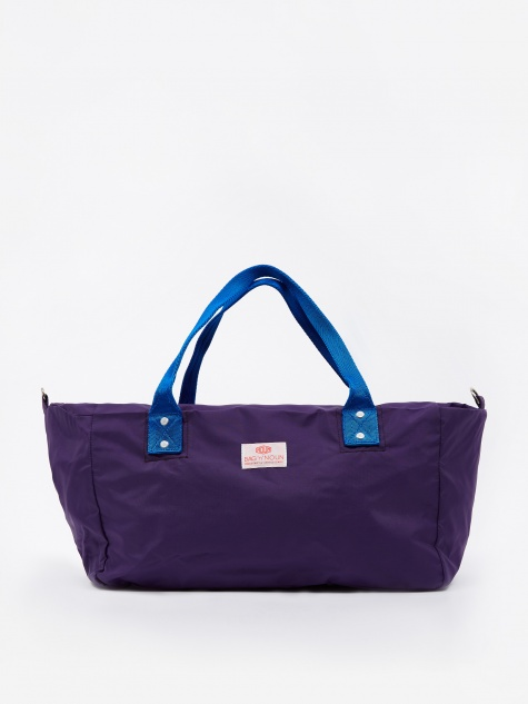 Nylon Muffin Mini Bag - Violet