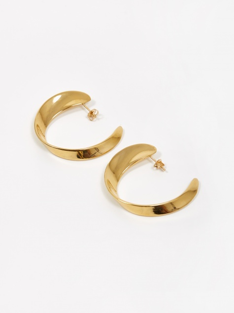 Daphne Hoop Earrings - Gold Vermeil