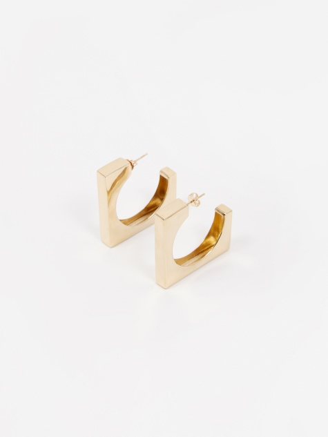 Large Isa Earrings - Vermeil Gold